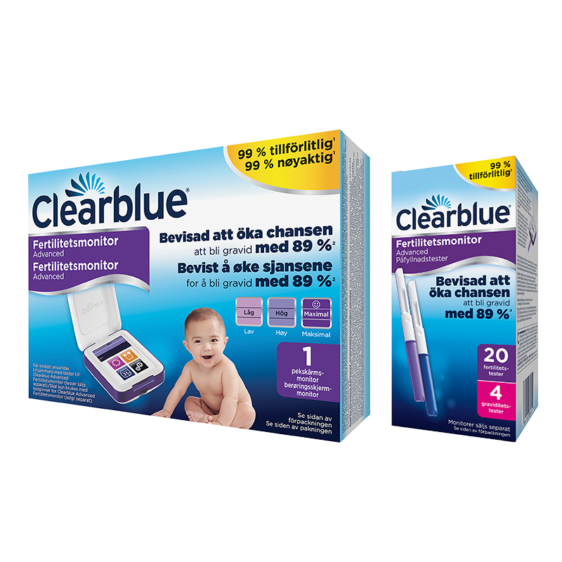 Clearblue Advanced Fertilitetsmonitor, 20+4 st teststickor
