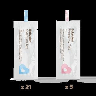 Graviditetstest- & ägglossningstestpaket - 5 + 21 st.