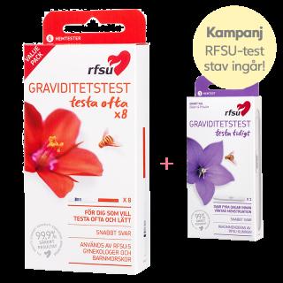 Kampanj RFSU graviditetstest sticka 8 st