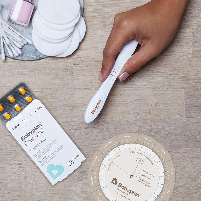 Babyplan tidigt graviditetstest stav och Babyplan Folsyra