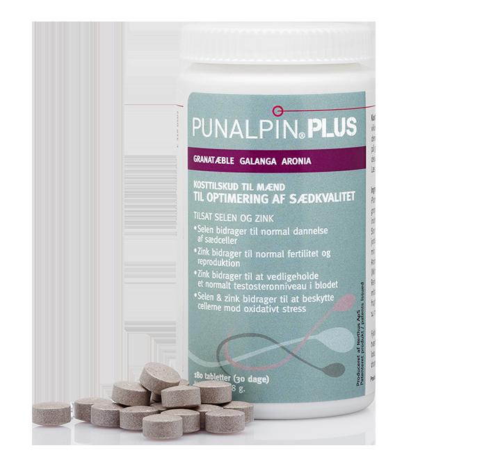 Punalpin® PLUS (180 tabletter/1 mån.) Granatäpple, galanga, aronia, zink, selen